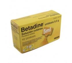 BETADINE (10% SOLUCION TOPICA 10 UNIDOSIS 5 ML )