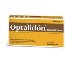 OPTALIDON (500/75 MG 6 SUPOSITORIOS )